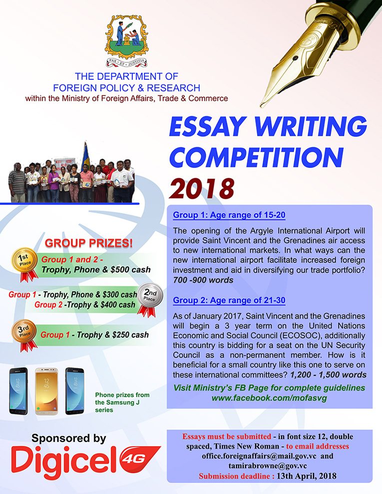 Persuasive Essay Thesis Source Ministry Of Foreign Affairs Trade  Commerce Health Awareness Essay also Essays On Science And Religion  School Visits Program And Essay Competition  Ministry Of  Example Essay Thesis